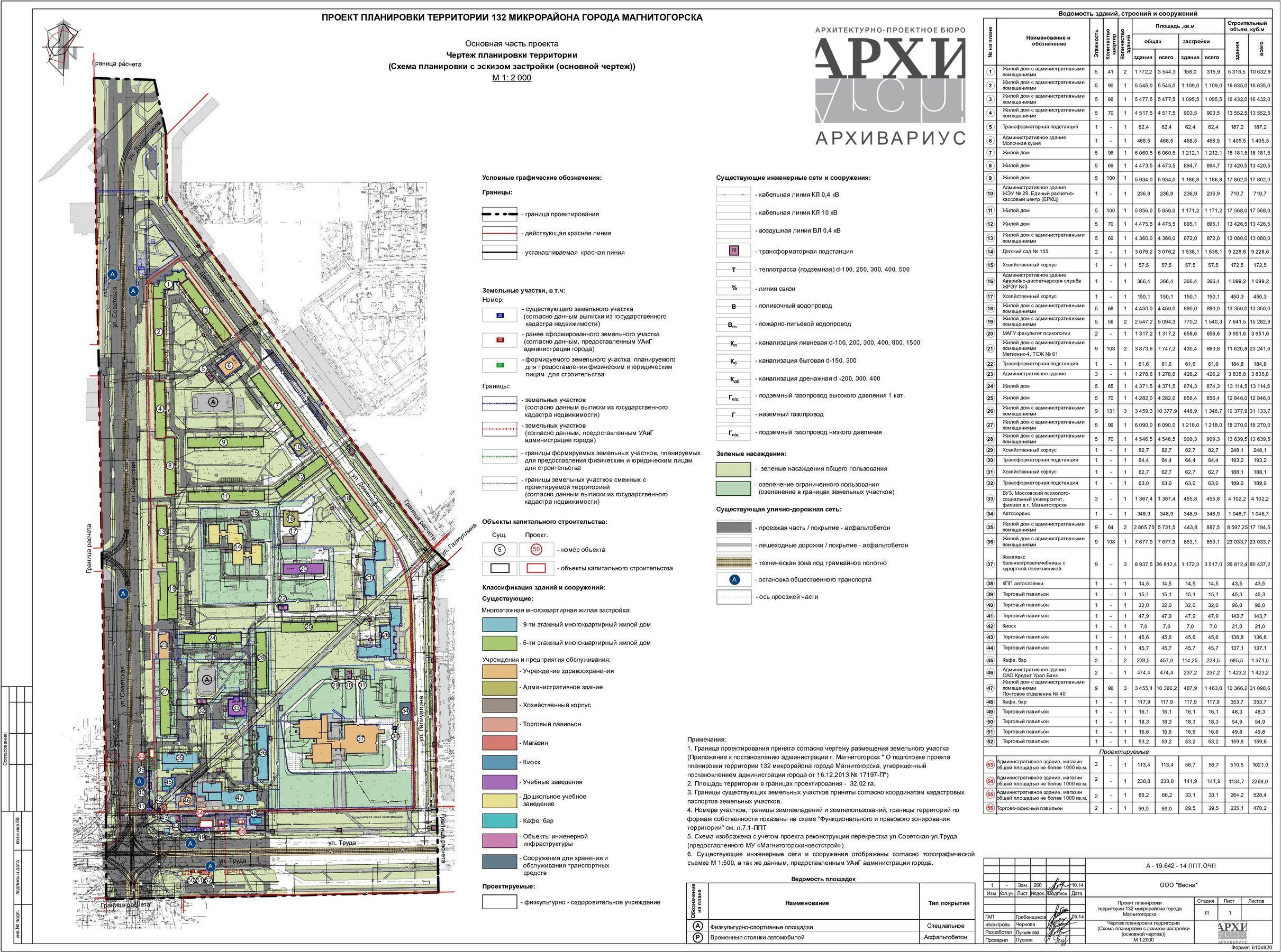 схема чертежа плана улицы пр. ленина г. стерлитамака